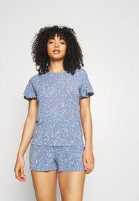 Marks & Spencer London - DITSY SHORTIE - Pyjamas - chambray - 0