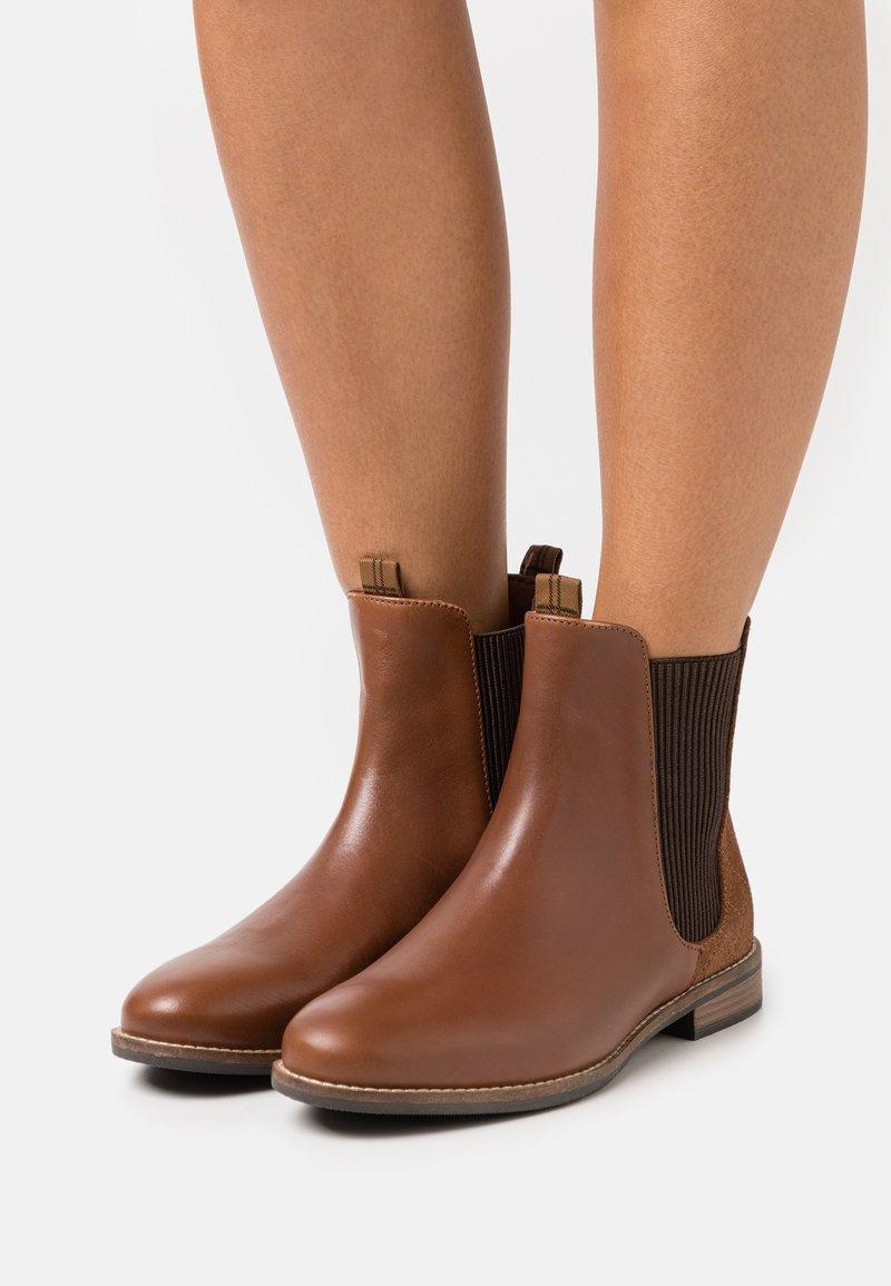 Barbour - BADMINTON - Classic ankle boots - tan