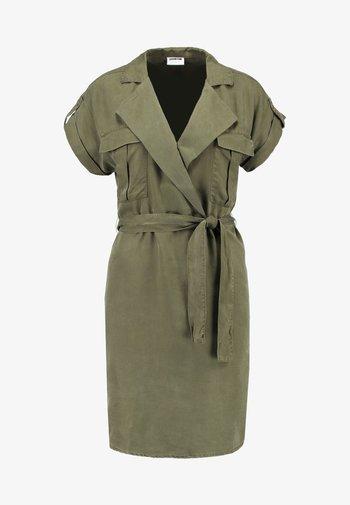 NMVERA ENDI DRESS - Shirt dress - olive night