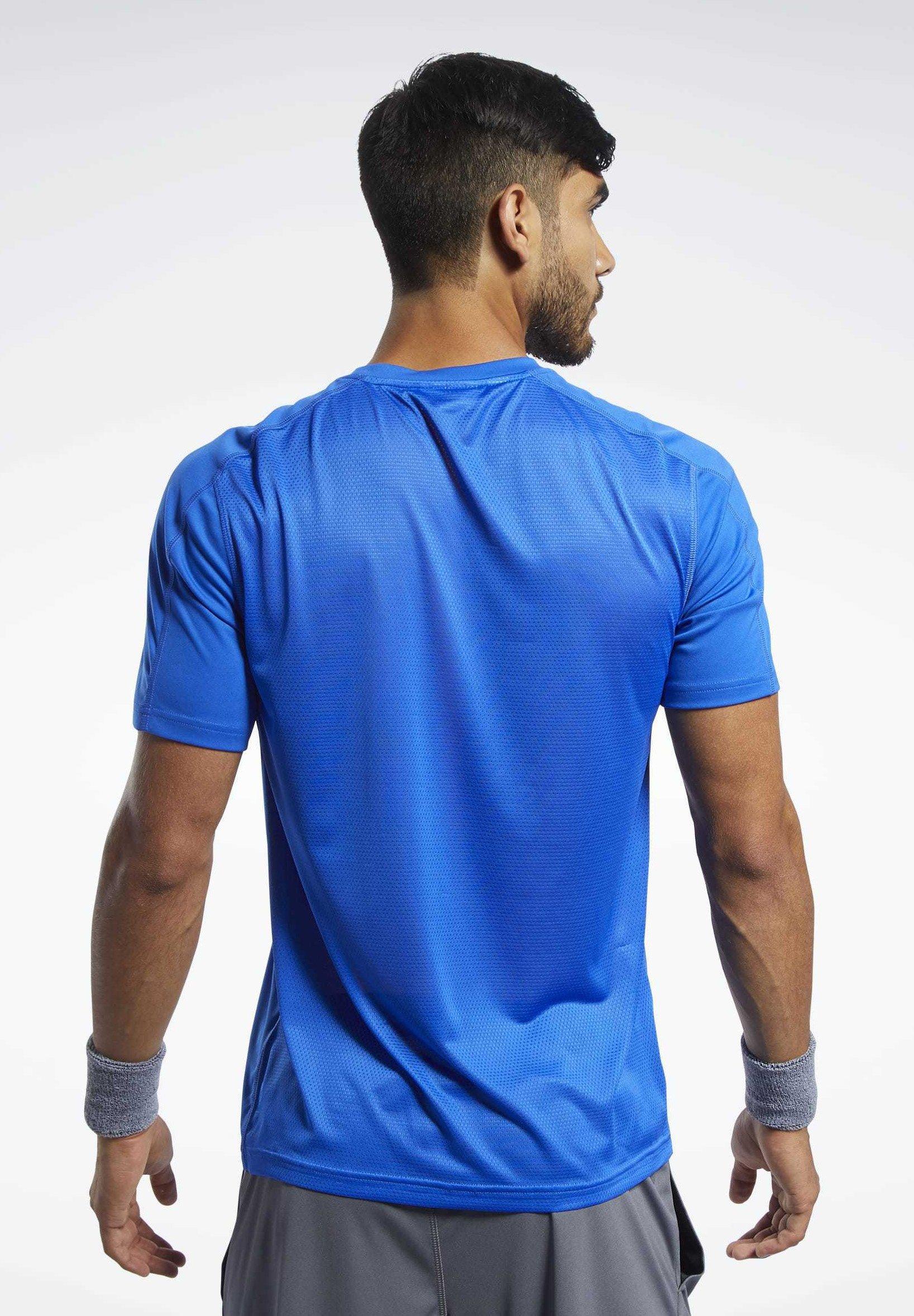 Reebok Workout Ready Polyester Tech Tee - Treningsskjorter Blue/blå
