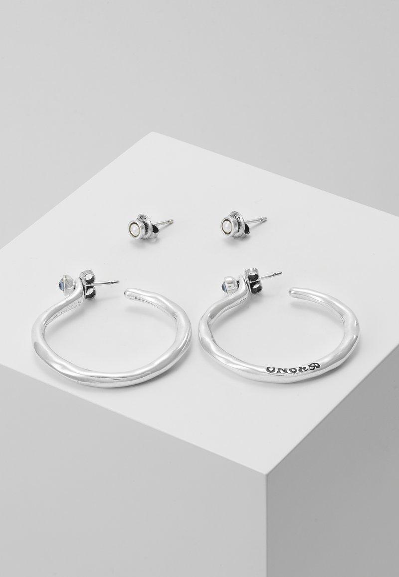 UNOde50 - MY LUCK MEDIUM HOOP EARRING SET - Orecchini - silver-coloured