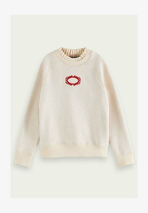 Sweatshirt - off white melange