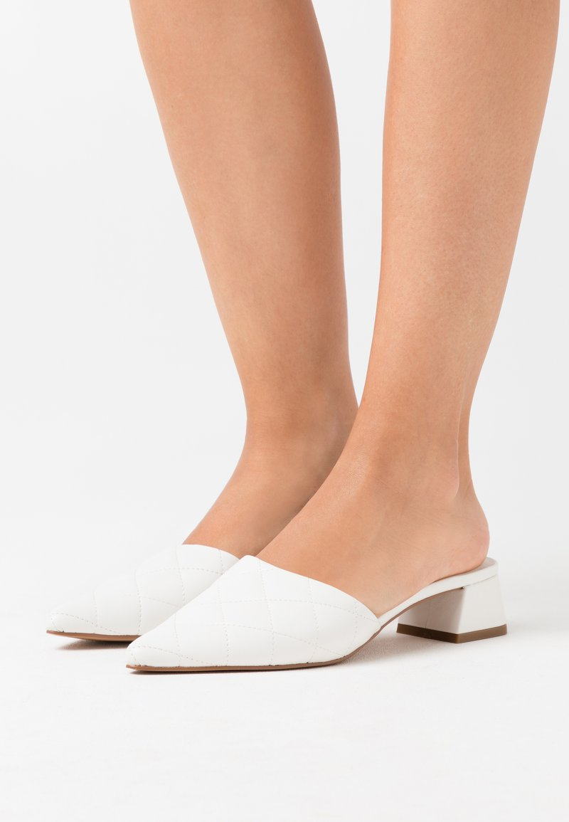 Topshop - LOLA QUILTED MULE TOP UP - Mules - white
