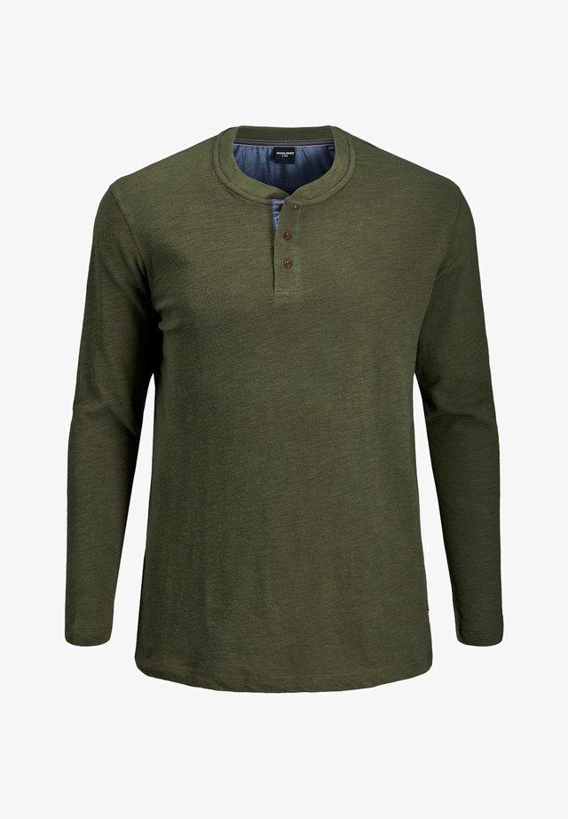 Maglietta a manica lunga - olive night