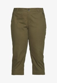 Ciso - CAPRI WITH ZIP POCKETS - Stoffhose - khaki
