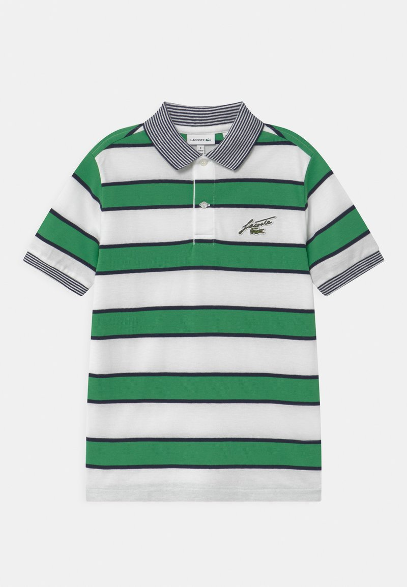 Lacoste - Poloshirts - white/chervil-navy blue