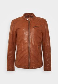 Freaky Nation - EASY JIM - Leather jacket - cognac - 4