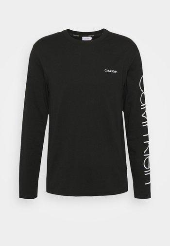 LOGO LONG SLEEVE - Pitkähihainen paita - black