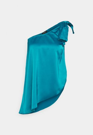 ONE SHOULDER BOW  - Top - dark teal