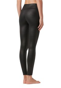 Calzedonia - TOTAL-SHAPER-LEGGINGS MIT LEDER-EFFEKT - Leggings - Stockings - black - 1