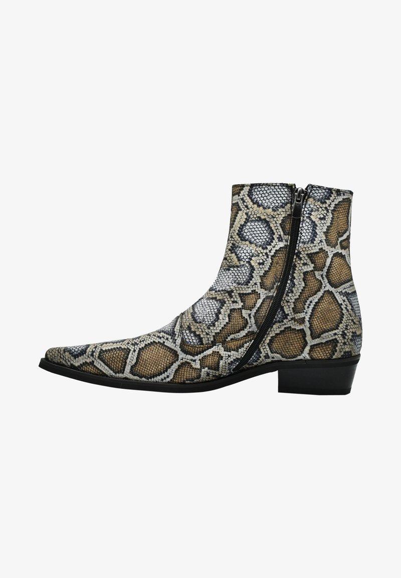 Fertini - Cowboy/biker ankle boot - serpentine gray