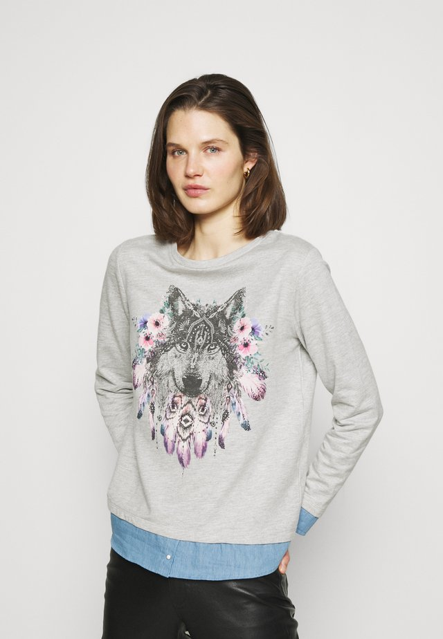 PLUMAS LOBO FALDON - Sweater - dark grey