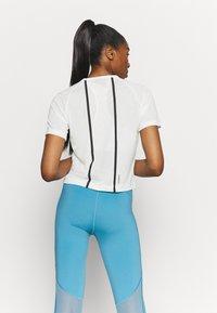 adidas Performance - CROP TEE - Print T-shirt - off-white - 2