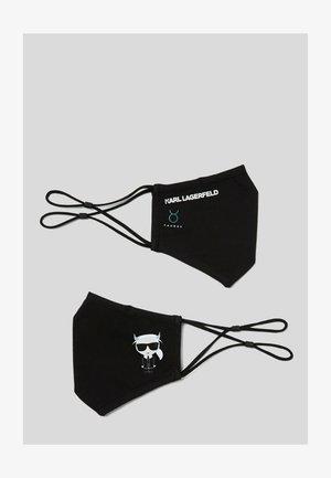 2 PACK - Textilné rúško - black