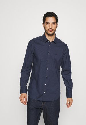 FLEX MINI DOT SLIM SHIRT - Shirt - navy/ white