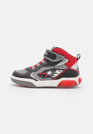 INEK BOY - High-top trainers - grey/red