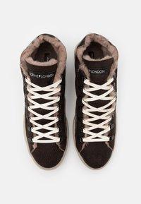 Crime London - Sneakersy wysokie - dark brown - 3