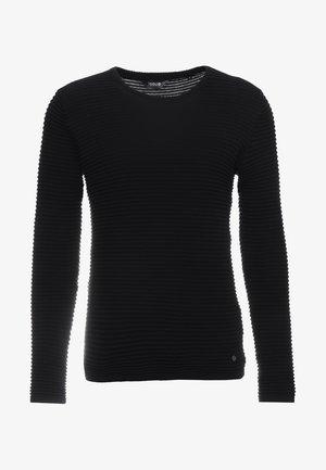 STRUAN - Stickad tröja - black