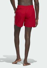 adidas Originals - ADICOLOR CLASSICS 3-STRIPES SWIM SHORTS - Swimming shorts - red - 1
