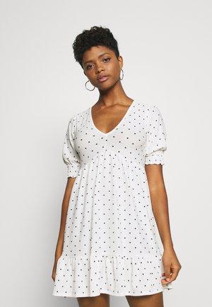 FLORAL DRESS - Korte jurk - white
