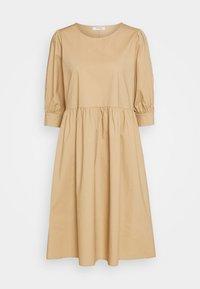 MINORA 3/4 DRESS - Day dress - travetine