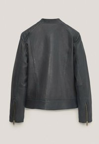 Massimo Dutti - Faux leather jacket - blue-black denim - 1