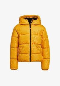 WE Fashion - MET CAPUCHON - Winterjas - yellow - 0