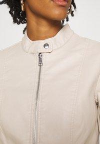 ONLY - ONLMELISA FAUX JACKET - Faux leather jacket - moonbeam - 5