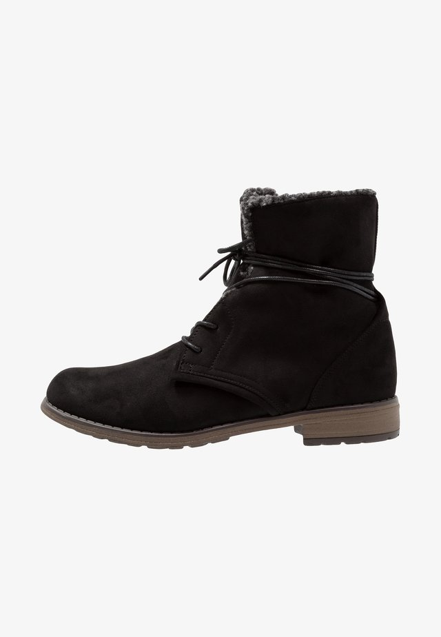 HANNA - Bottines à lacets - black