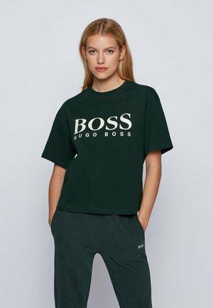 EVINA - Print T-shirt - open green