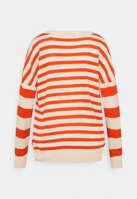 Ecoalf - LEO STRIPE WOMAN - Jumper - beige/red - 1