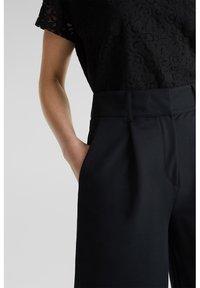 Esprit Collection - FASHION CULOTTE - Trousers - black - 7