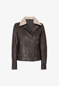 FOLLOWER - Leather jacket - light brown