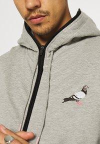 STAPLE PIGEON - FULL ZIP HOODIE - Sweat à capuche zippé - heather grey - 4