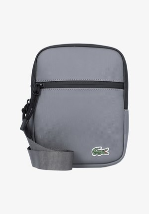 FLAT CROSSOVER BAG UNISEX - Across body bag - smoked pearl noir
