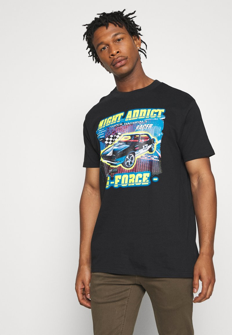 Night Addict - FORCE - Print T-shirt - black