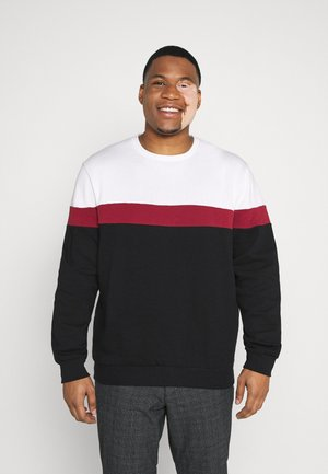 Sweatshirt - white/red/black