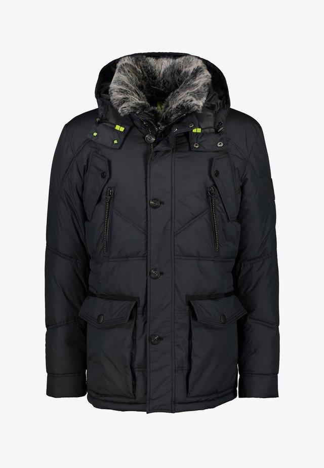 TWO TONE - Winter coat - black