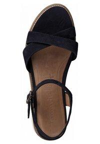 Tamaris - Wedge sandals - navy - 1