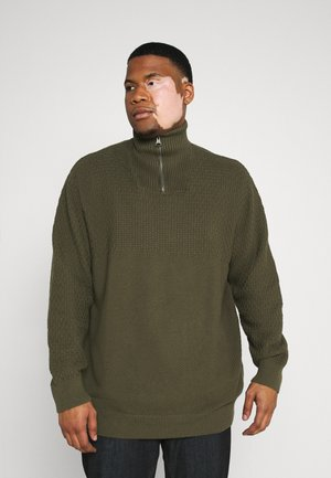 JPRBLUCARLIN HALF ZIP - Jumper - olive night