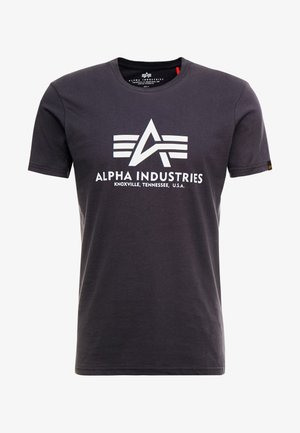 Print T-shirt - iron grey