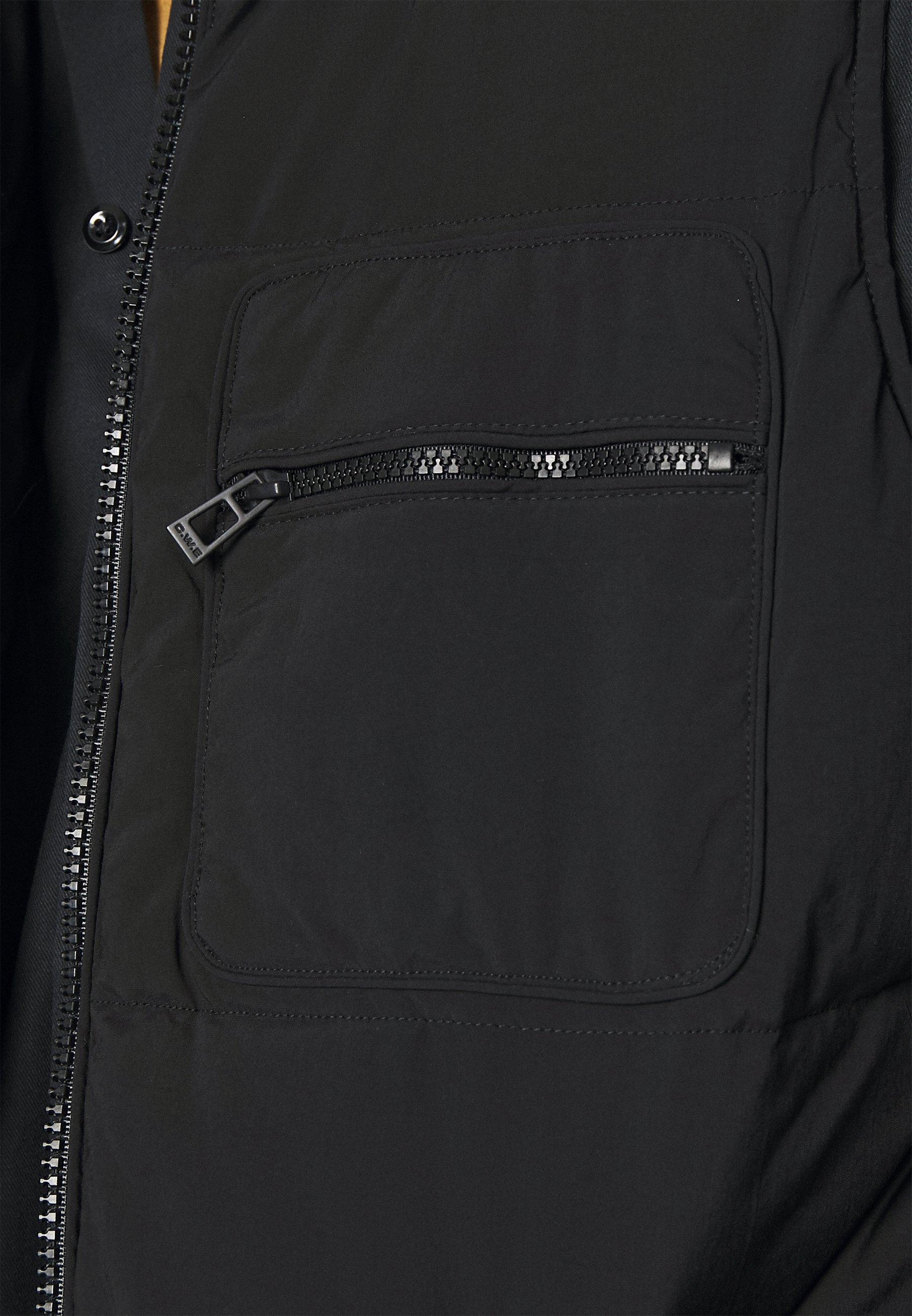 Topman FUJI GILET - Weste - black/schwarz - Herrenwinterkleidung Kn3Dj