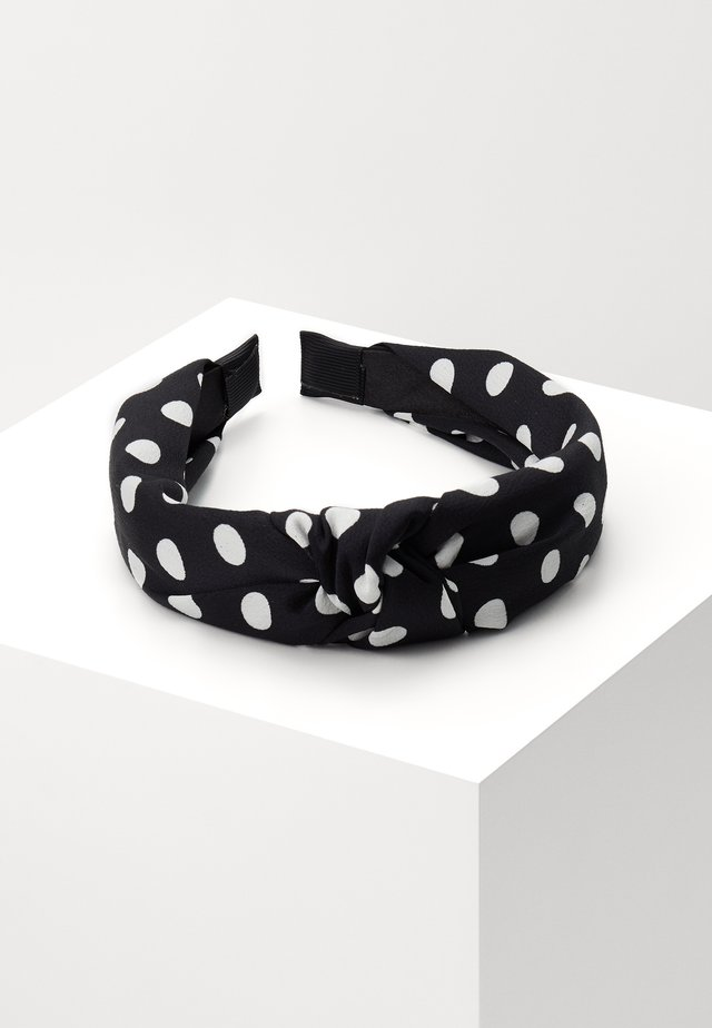 POLKA DOT KNOT - Hair Styling Accessory - black/white