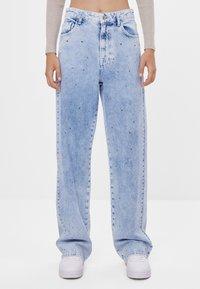 Bershka - Široké džíny - blue denim - 0