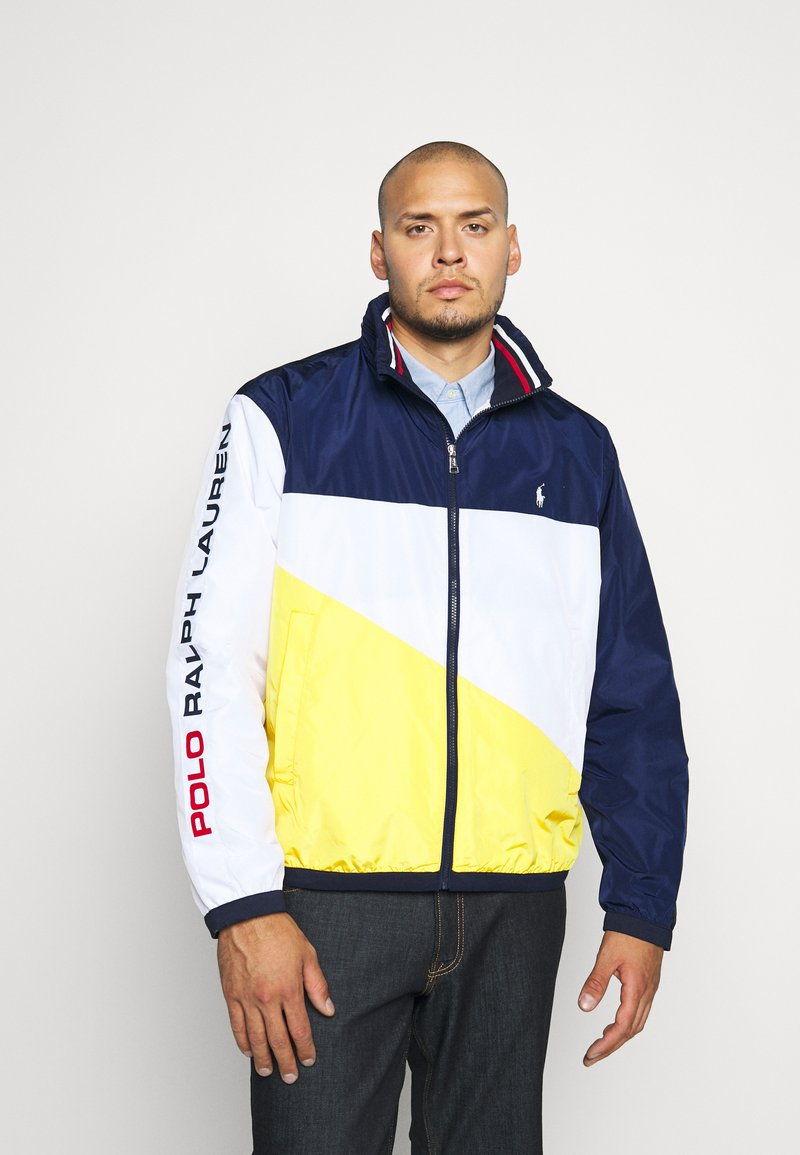 Polo Ralph Lauren Big & Tall - PACE FULLZIP - Lehká bunda - newport navy/yellow