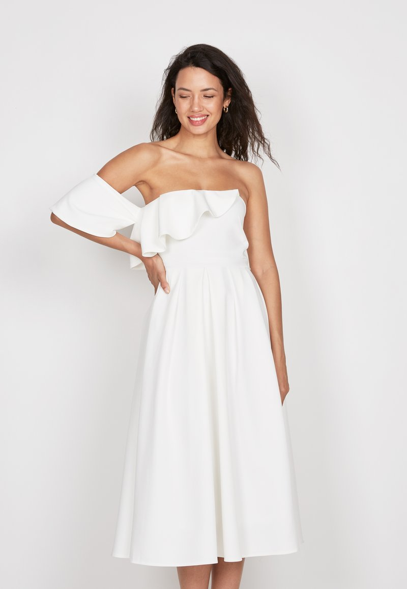 True Violet - FRILL FIT  - Day dress - off-white