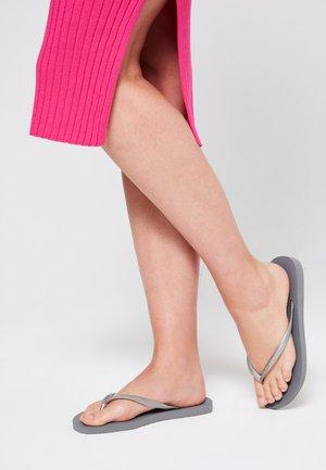 SLIM - Pool shoes - grey/silver