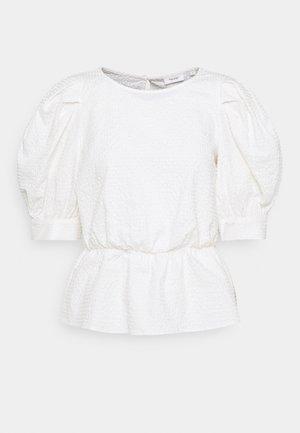 BLOUSES SHORT SLEEVE - Blouse - scandinavian white