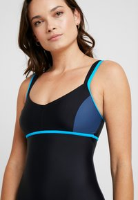 Arena - VENUS COMBI - Swimsuit - black/shark turquoise - 3