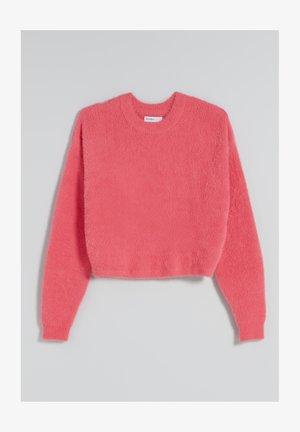 Fleece jumper - neon pink